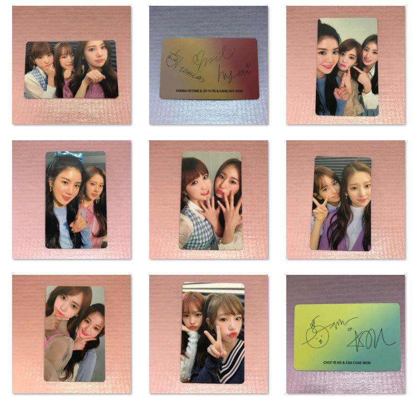 IZ*ONE Official PHOTOCARD 1st Mini Album COLOR*IZ Unit Version Photo