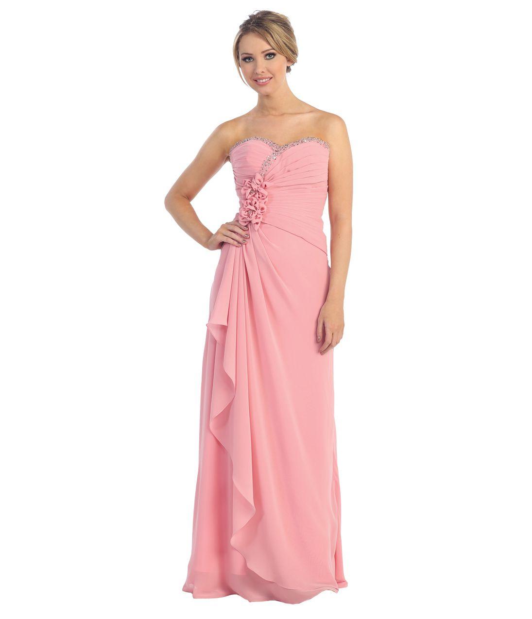 Rose Chiffon Prom Dress | Evening Dresses | Pinterest