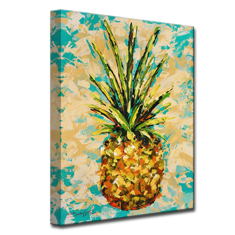 Fiesta Pineapple Medium Canvas Wall Art Ananas Malerei Ananas Kunst Idee Farbe