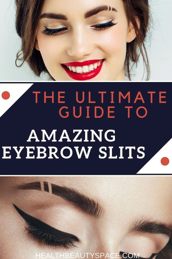 How To Do Eyebrow Slits : eyebrow, slits, Eyebrow, Slits, Concealer, EyebrowShaper