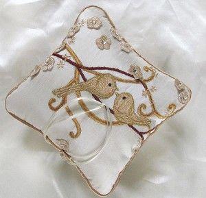 Love Birds Wedding Ring Bearer Pillow #BirdWedding #RingPillow