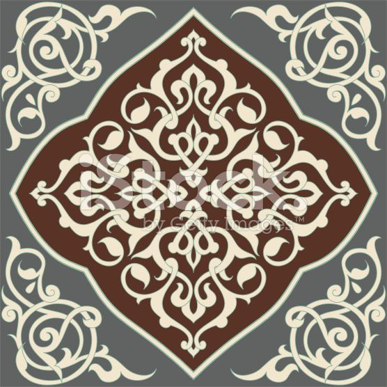 Islamic Tile Design Colors Are Global For Easy Editing Islamic Tiles Islamic Art Pattern Islamic Motifs