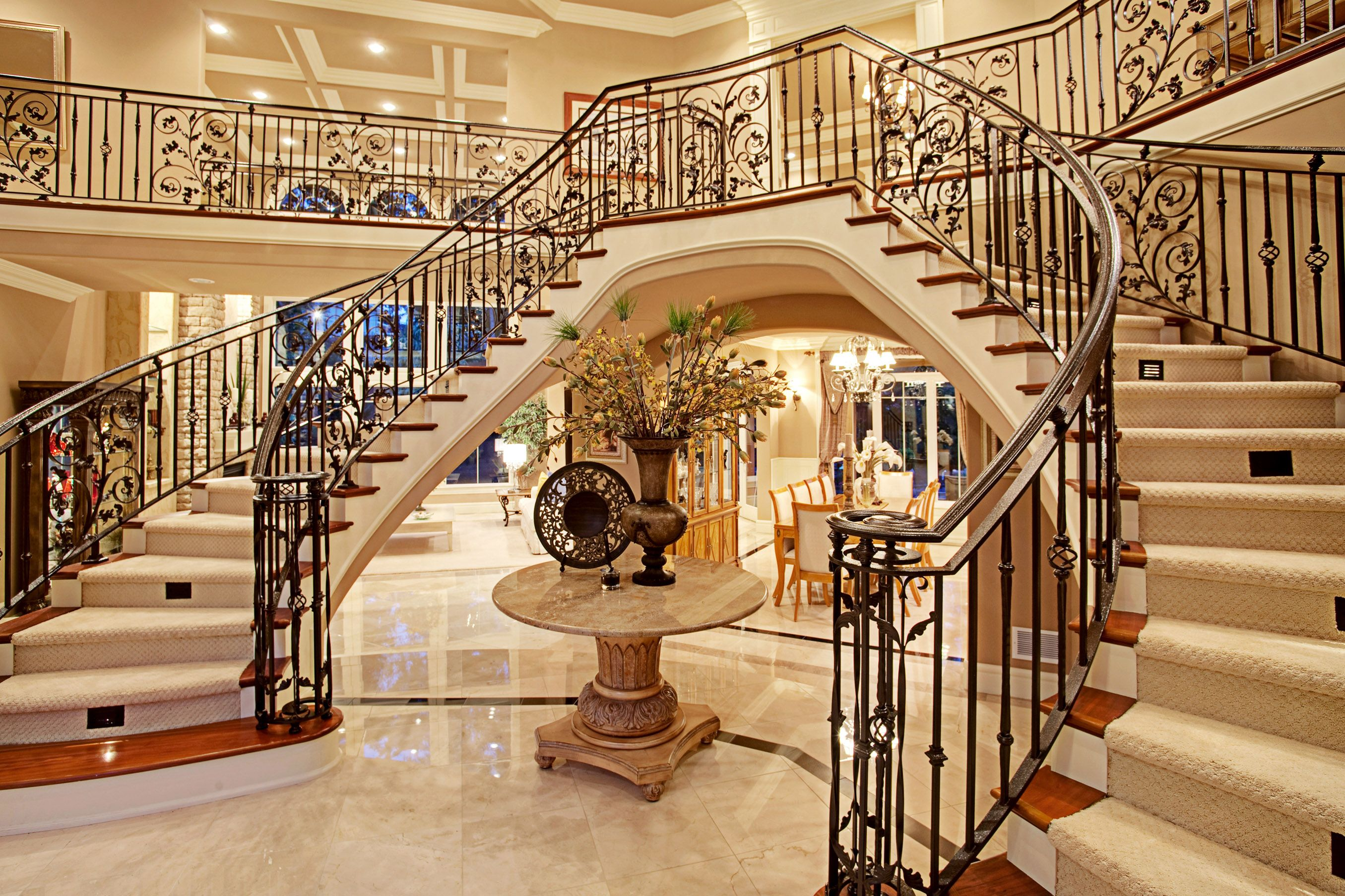 Our Floating Double staircase in Bellevue Home..man I took so much for granted.