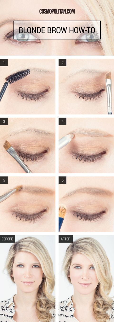 Makeup How To Beautiful Blonde Brows Blonde Eyebrow Makeup Eyebrow Makeup Eyebrow Makeup Tutorial