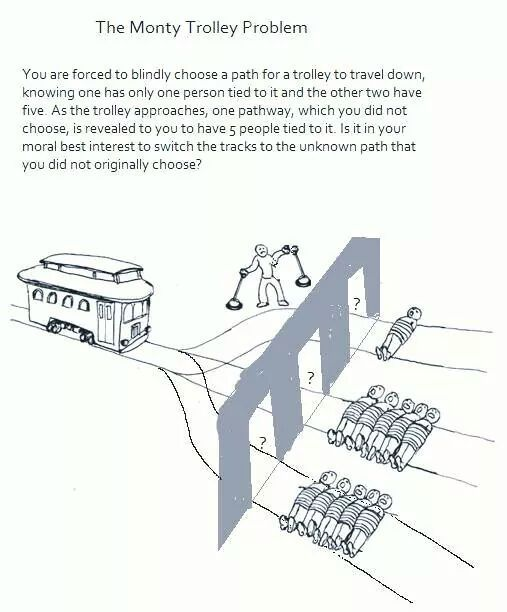 Lit Struggles With The Trolley Problem Funny Pinterest