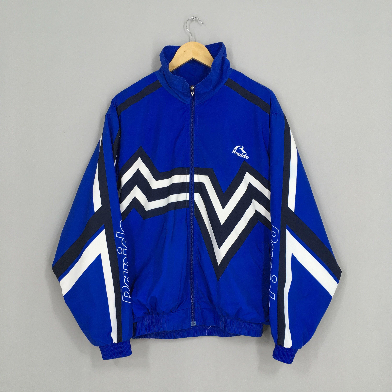 Athletic Warm Up Track Jacket Vintage 90/'s Sportswear Mens Small Fits Medium