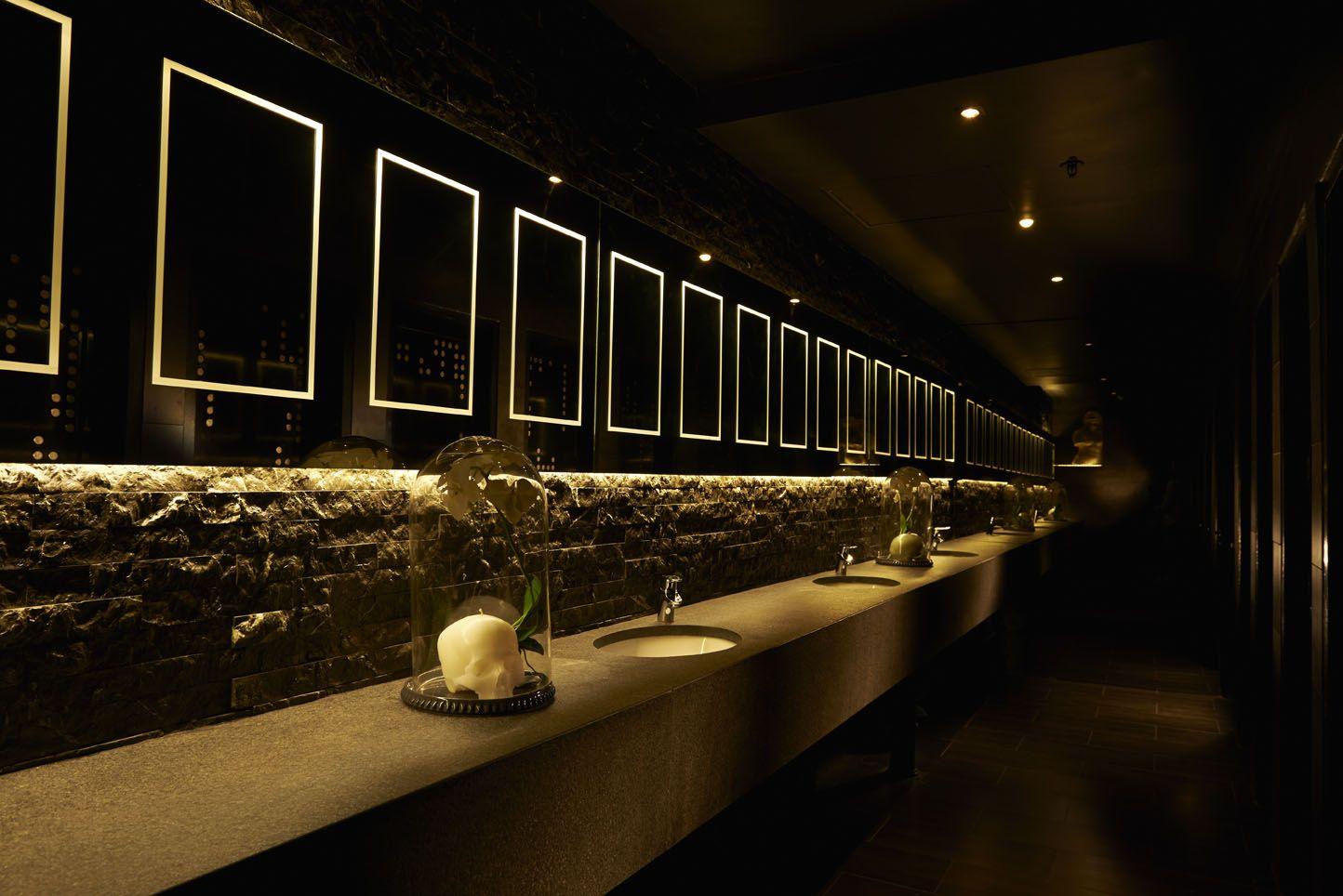 Bathroom Lights Cape Town kong nightclub-bathroom counter #interiordesign #bathroom