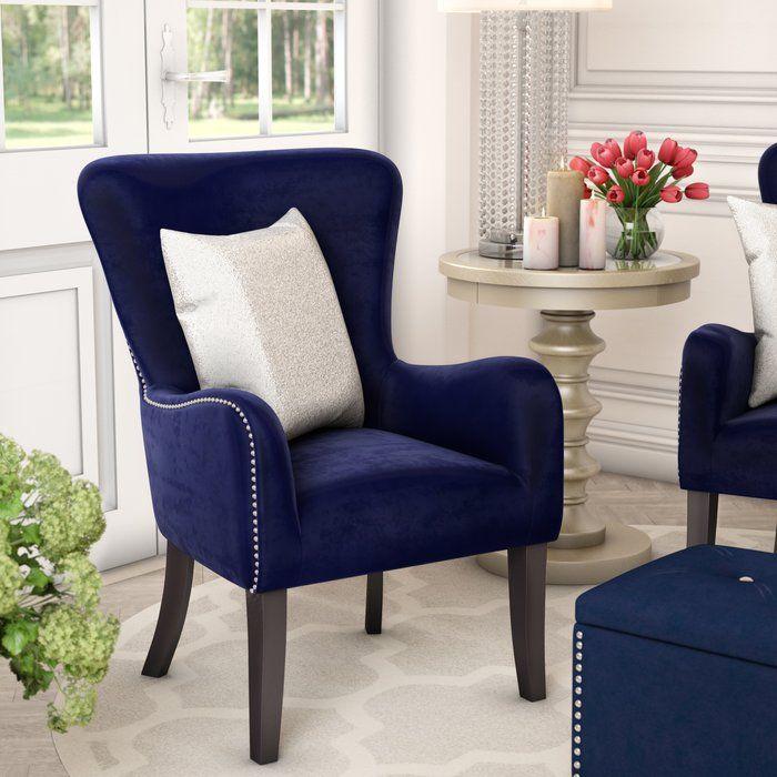 Kaat Velvet Wingback Chair  Living Room  Pinterest  Wingback Best Wing Chairs For Living Room Decorating Inspiration