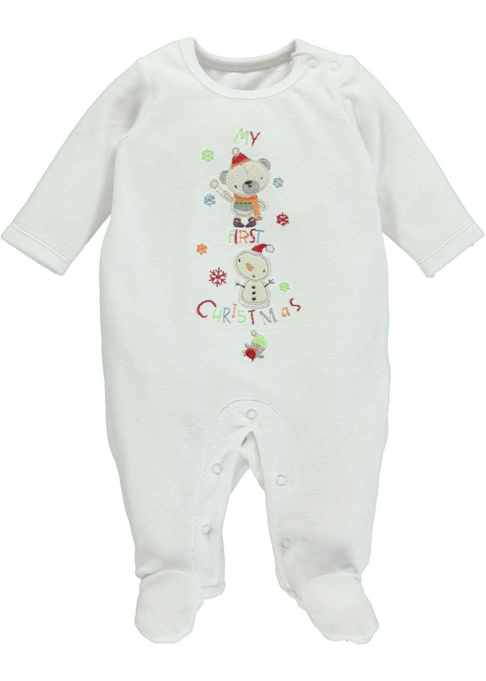 Unisex 'My First Christmas' Sleepsuit - Matalan
