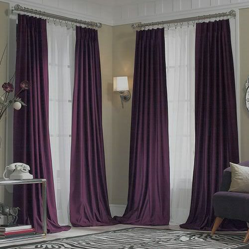 New Jcpenney Supreme Midnight Purple Pinch Pleated Drapes 100x95