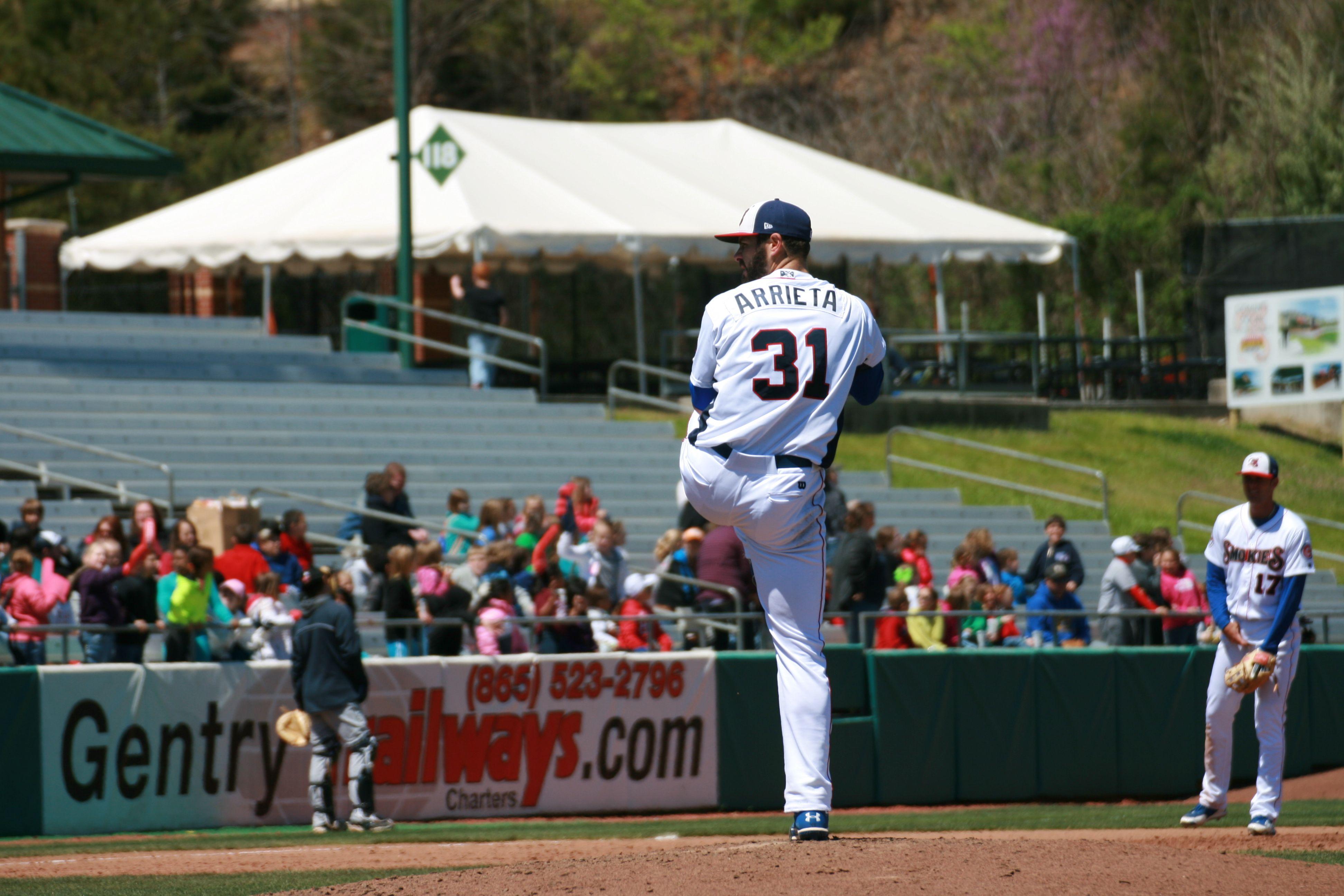 31 Jake Arrieta Tennessee Smokies Minor League Baseball Jake Arrieta