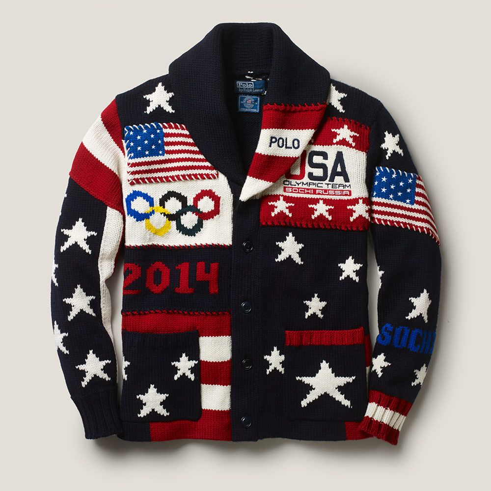 0ec9640955bff3 RALPH LAUREN TEAM USA 2014 SOCHI OLYMPIC CEREMONY CARDIGAN SWEATER ...