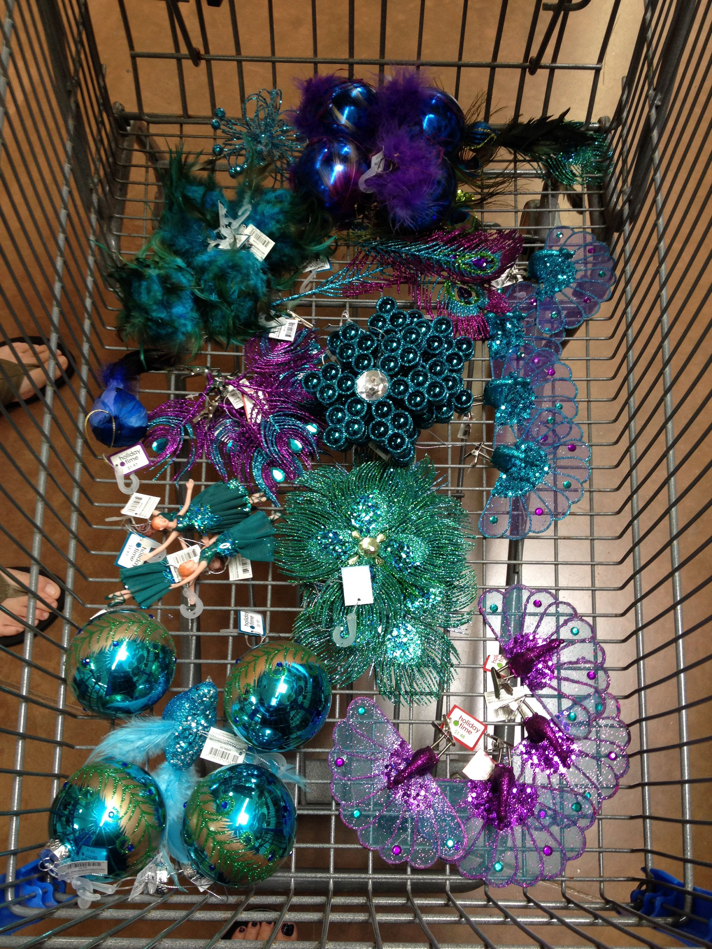 Peacock Decor At WalMart