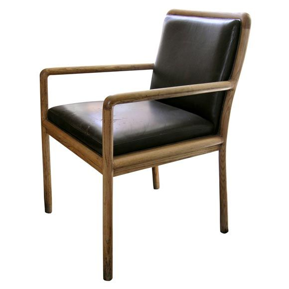 Leather Arm Chair By Ward Bennett Chaired Chair