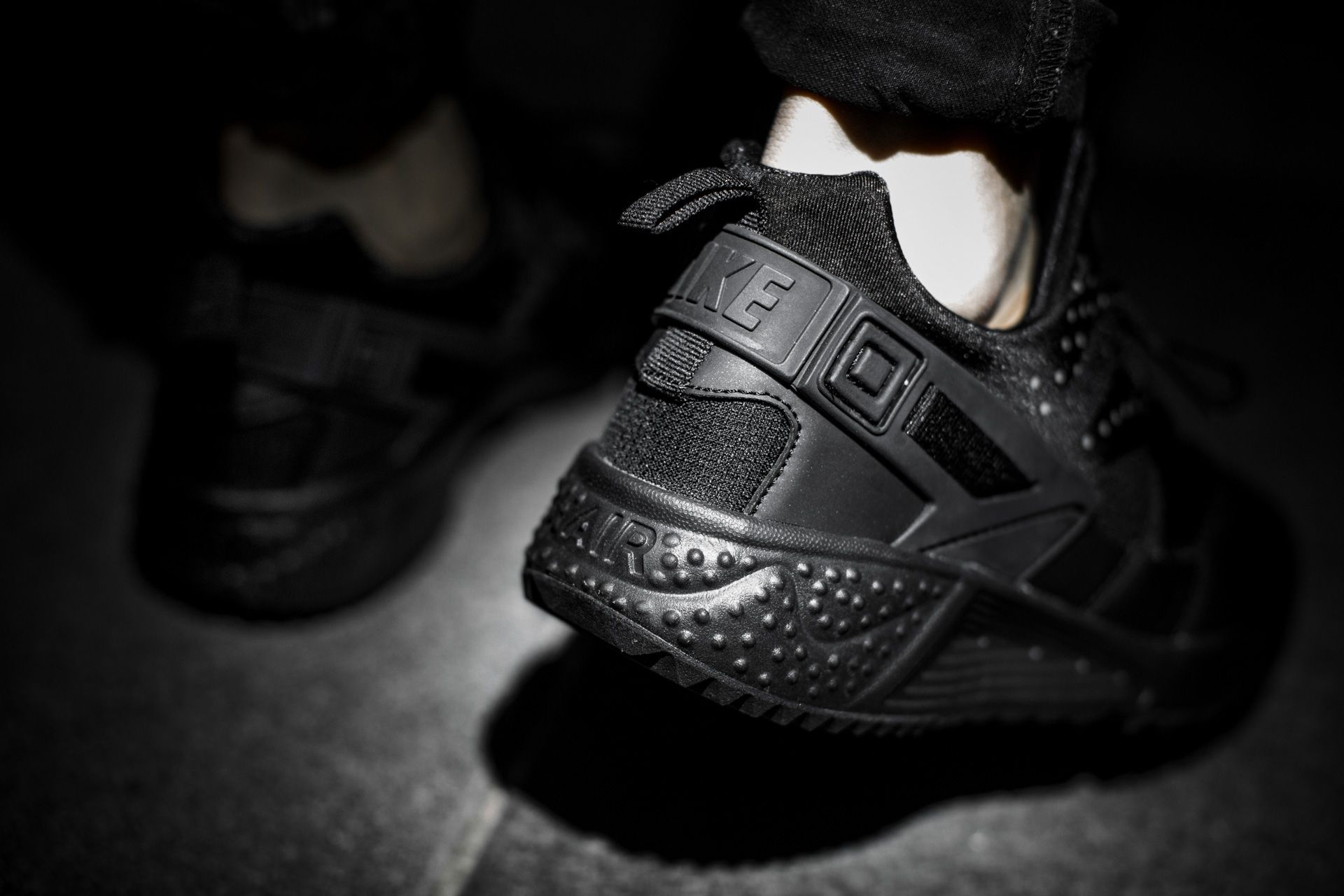 bb7729a215 ... NIKE AIR HUARACHE UTILITY BLACK/BLACK-BLACK available at  www.tint-footwear ...