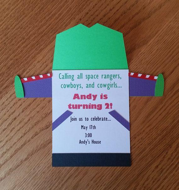 Toy Story Cumpleaños Invitación Buzz Lightyear Por