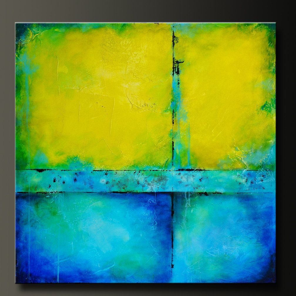 36 x 36 - Abstract Acrylic Painting - Contemporary Wall Art - Highly ...
