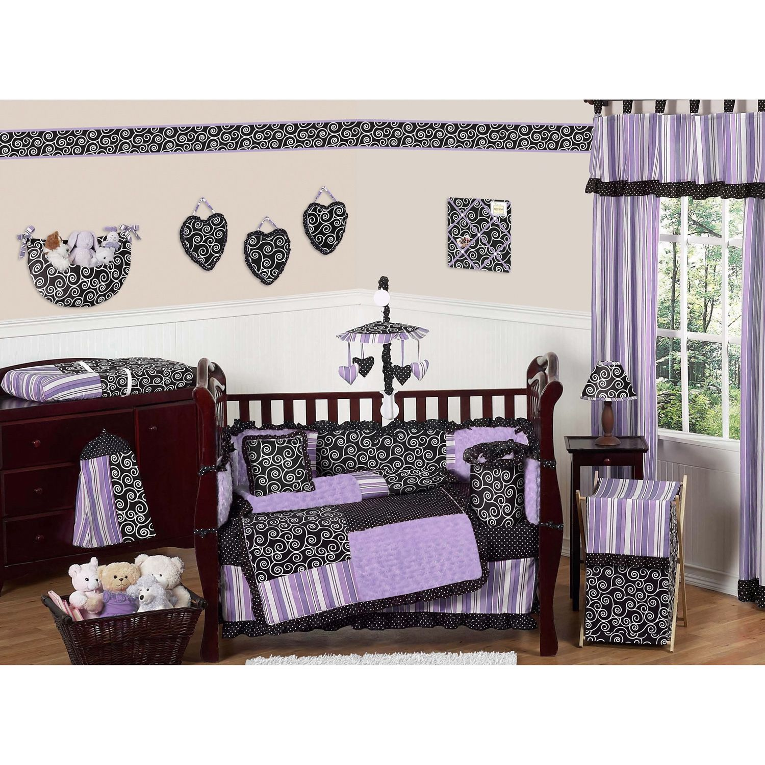 crib overstock animal bedding product jungle piece sweet today designs jojo free bumperless set efdc cribs time shipping baby