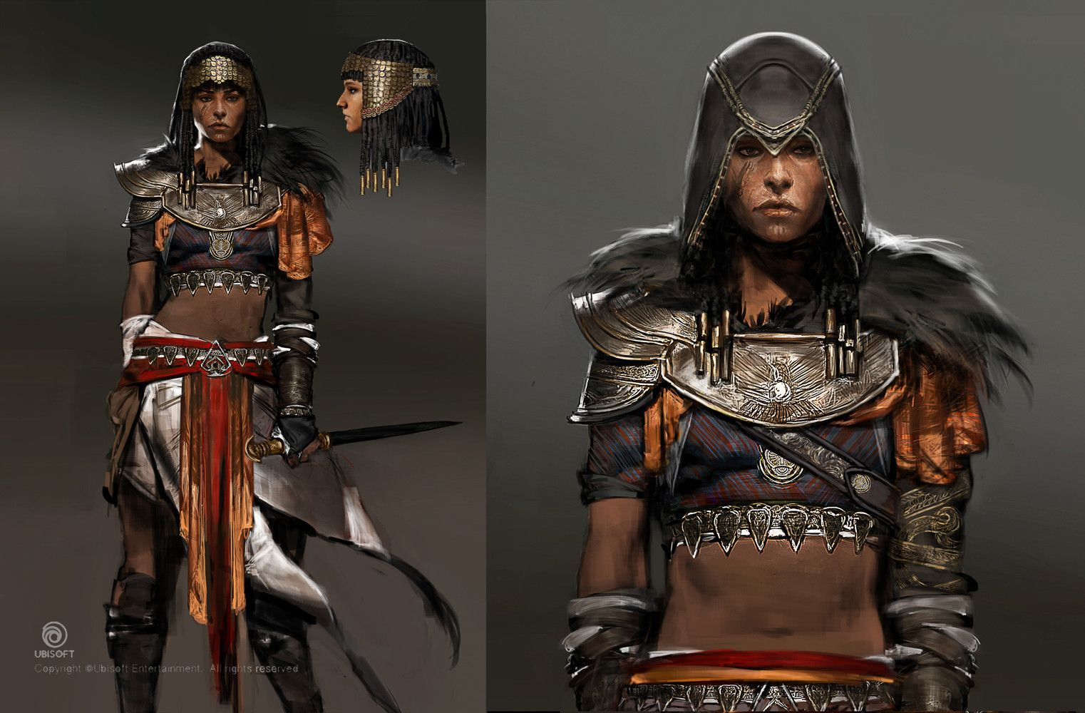 Artstation Assassin S Creed Origins The Hidden Ones Dlc Outfits