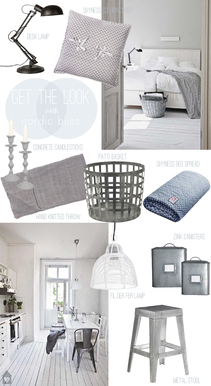 Nordic Bliss Get The Look White Grey Metal