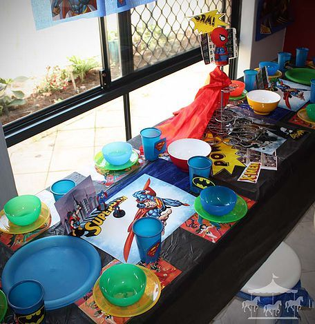 Superheroes theme party hire packages for kids in Perth, WA