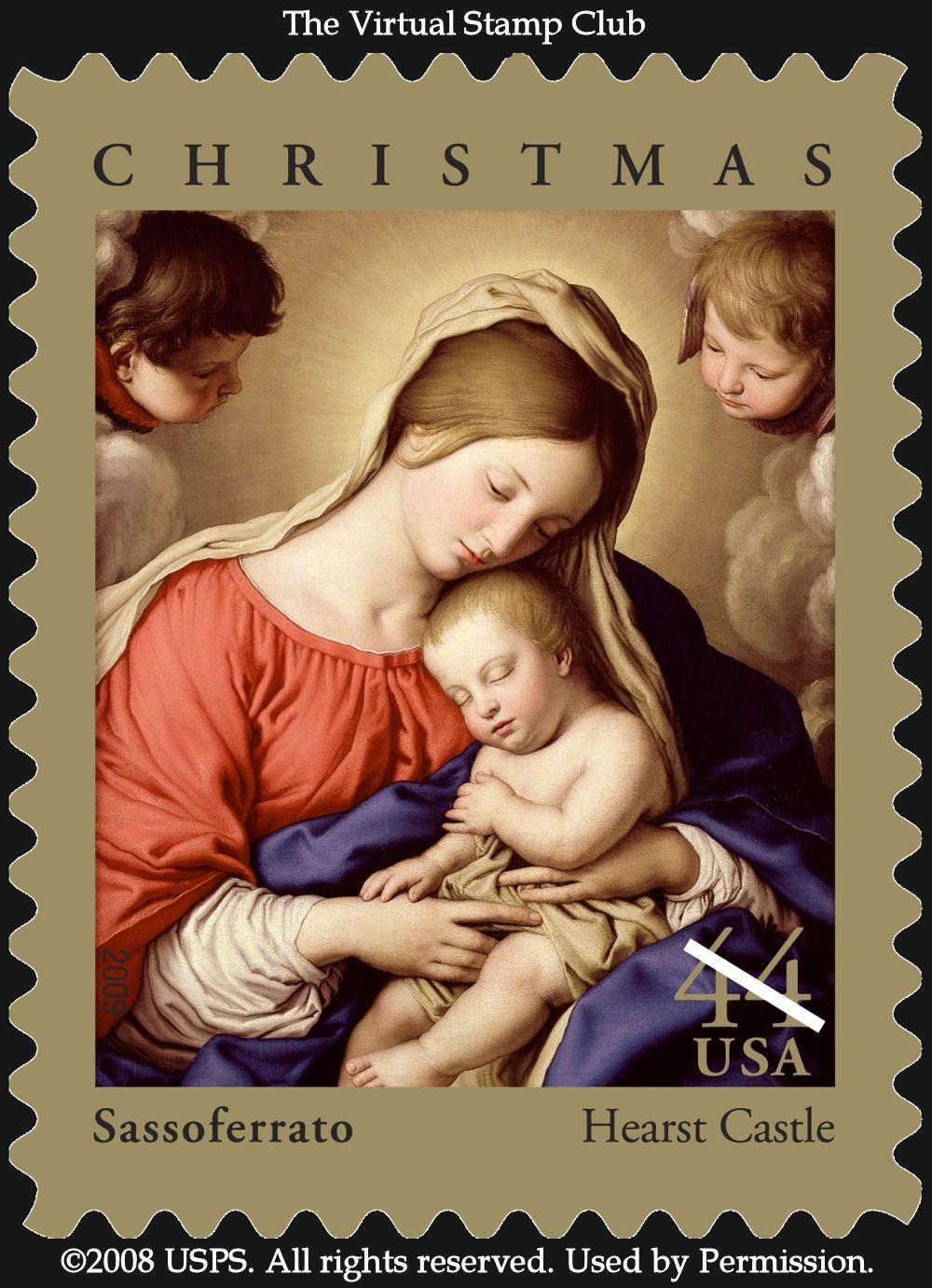 Madonna christmas stamps