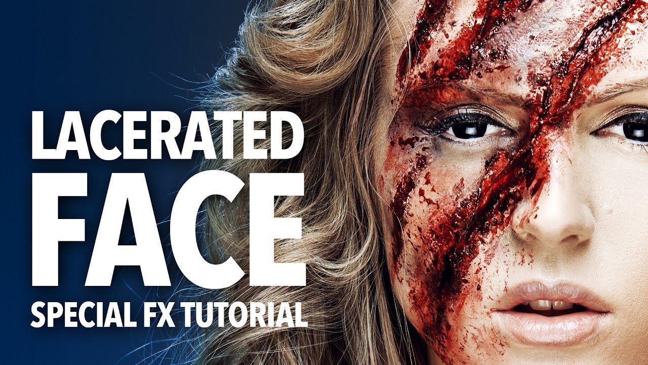 The lacerated face sfx makeup tutorial Sfx makeup
