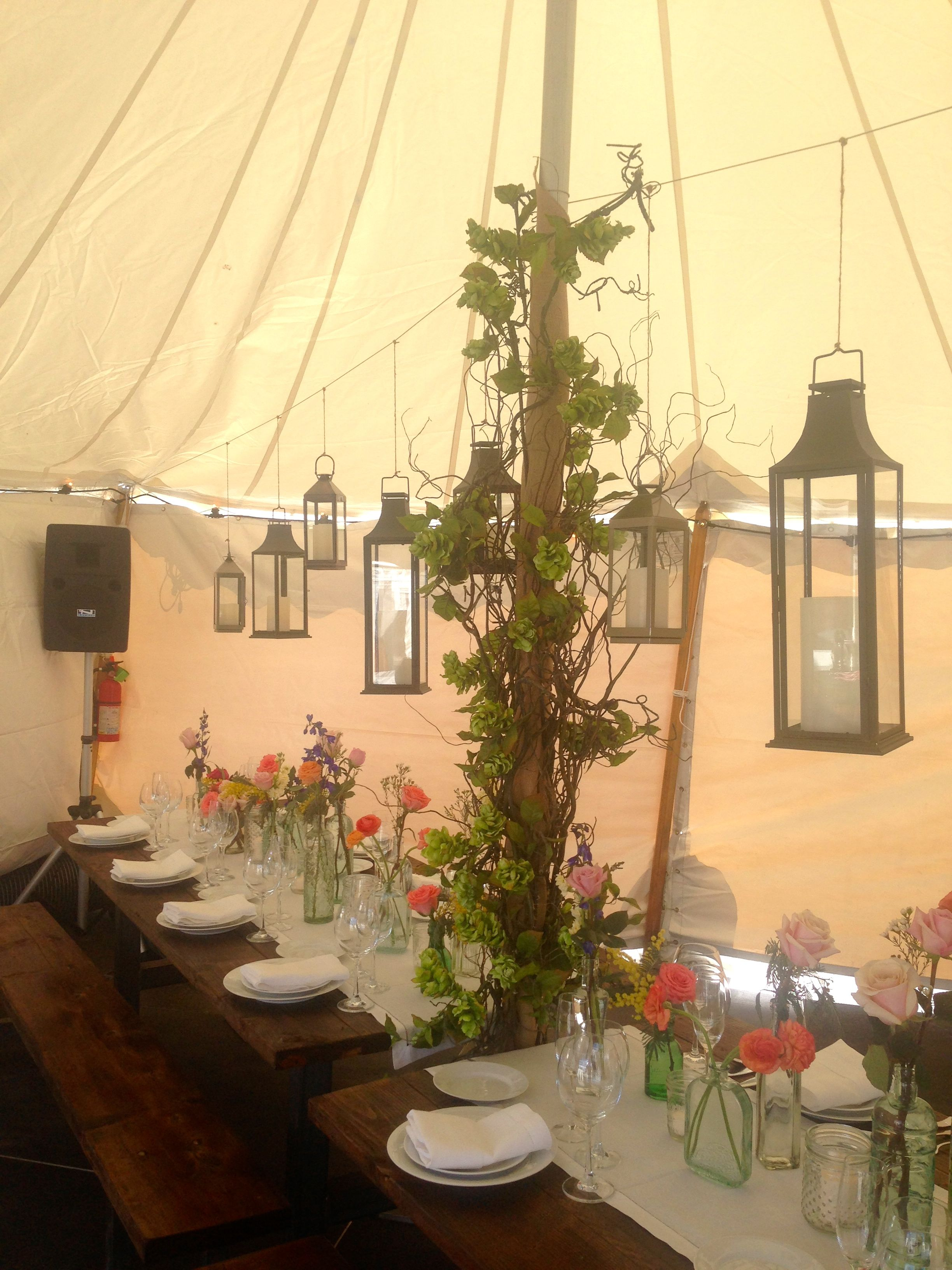 Wedding Pole Tent With Decorations From Our Open House Event In