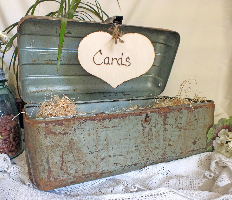 Wedding Card Box Vintage Fishing Box Rustic By