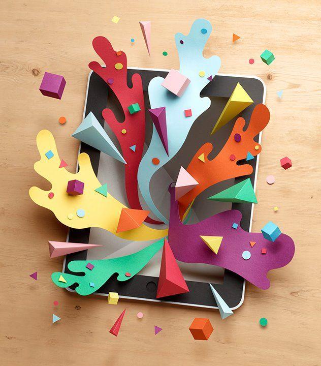 Diseño Con Papel De Colores Y Posterior Producción