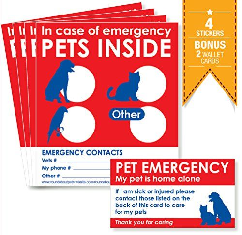 Pets Inside Stickers X 4 With Bonus Pet Home Alone Wallet Cards X 2 Alert Emergency First Responders To Pets Inside Home Yo Pet Home Pets Pet Emergency