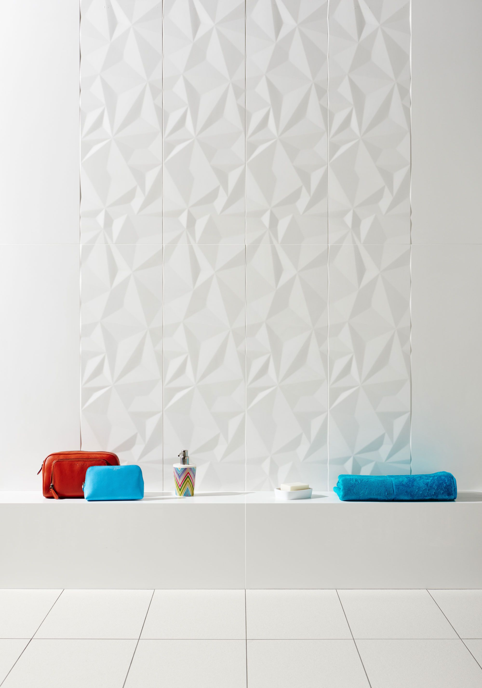 Form Couche Matt Décor White Tile | Walls and Cladding