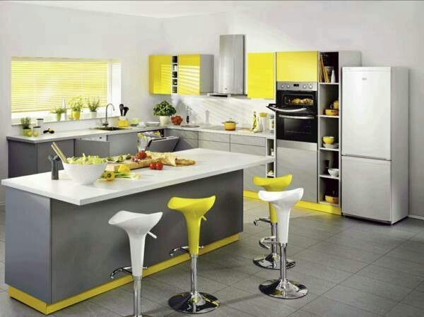 gray and yellow kitchen i want red and gray w yellow accents on kitchen ideas yellow and grey id=97744