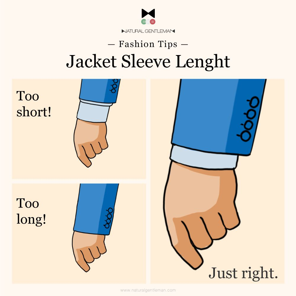 Check the correct sleeve length of your jacket the