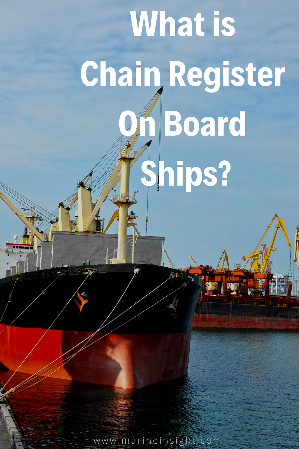 What is Chain Register On Board Ships? in 2020 Ship