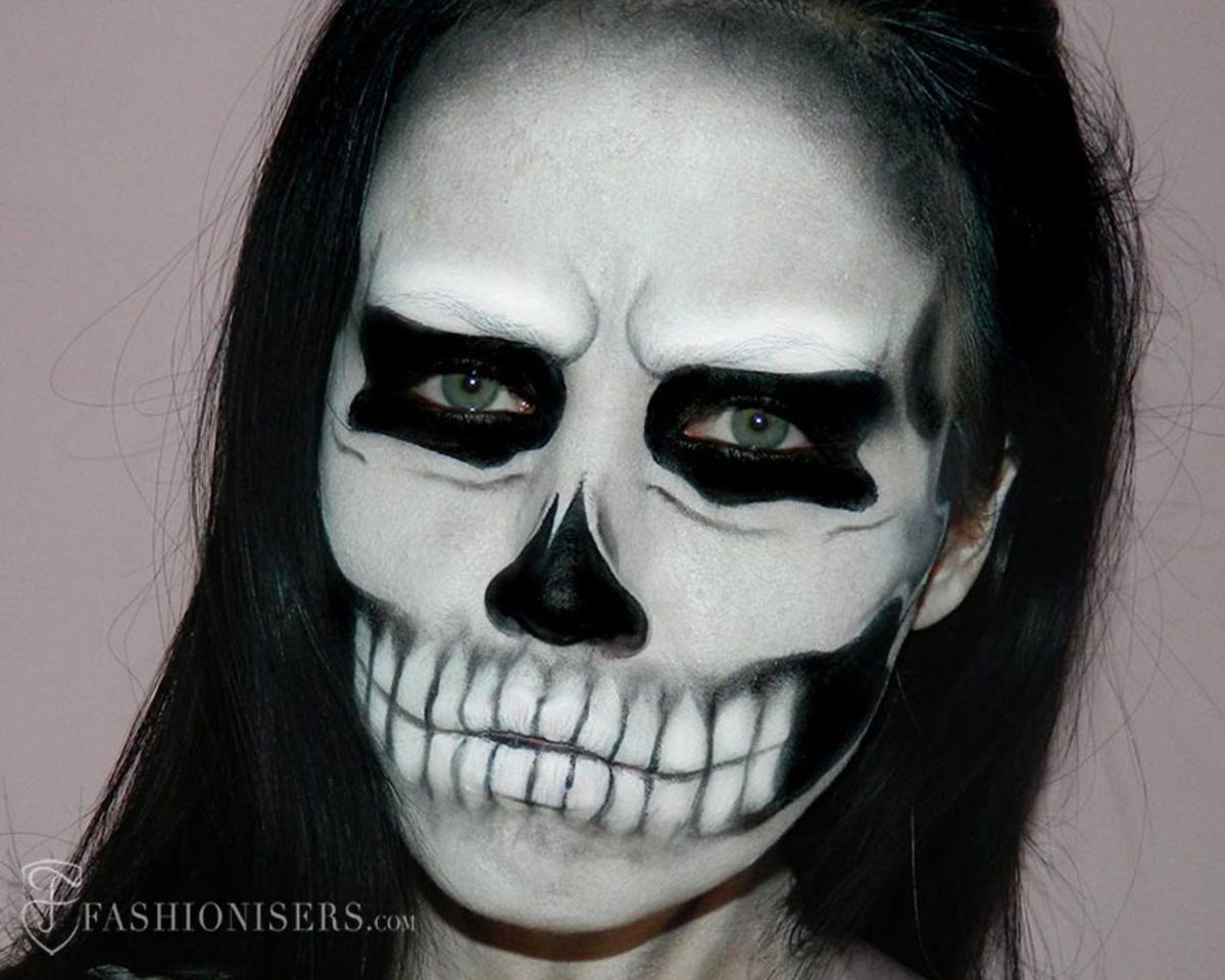 Gaga lady inspired halloween skull makeup tutorial