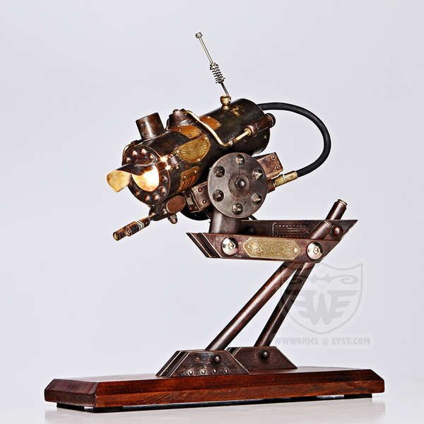 desk lighting solutions. Steampunk, Robot, Walker, Lamp - This Desk Is A Steampunk Crossbreed Of An Imperial Scout Walker (AT-ST) And Steam Engine, Hence The Designation Lighting Solutions I
