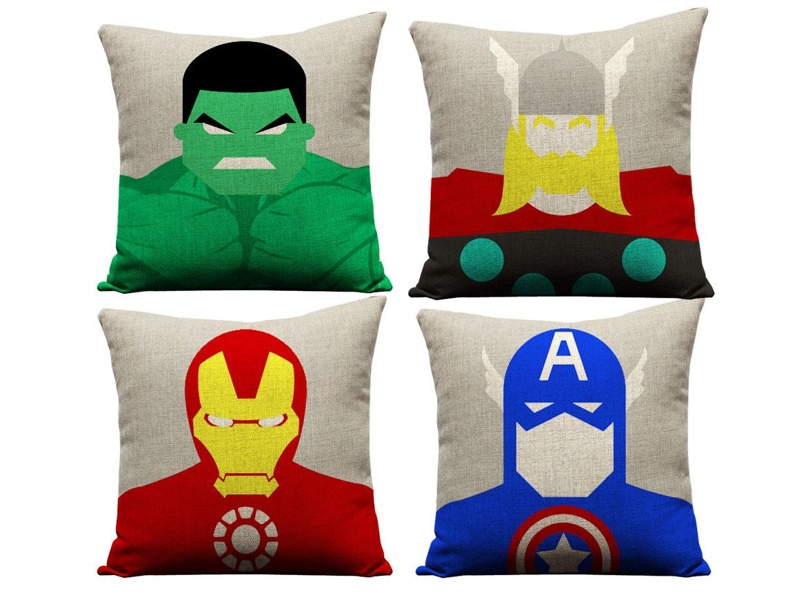 set of 4 avengers pillowcases thor pillow by