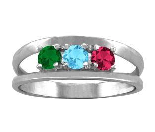 Jared FamilyMothers Ring Round Birthstones Design in 10K14K