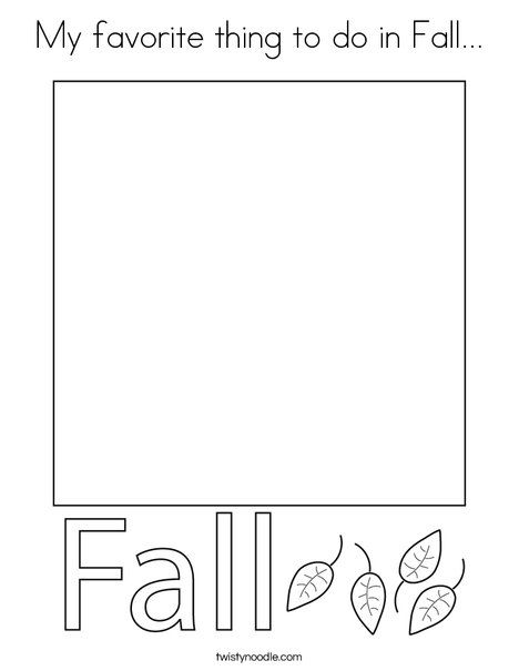 My favorite thing to do in Fall Coloring Page - Twisty ...