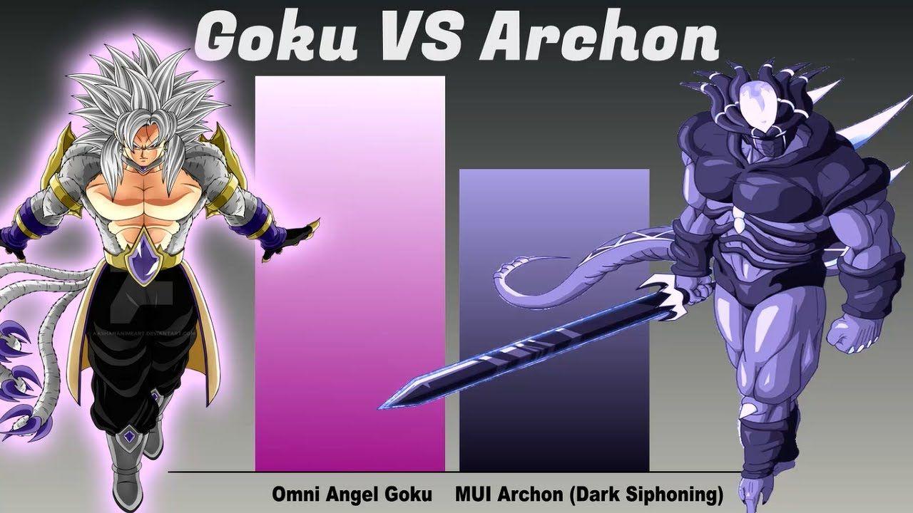 Goku Vs Evil Omni King Archon Power Levels In 2021 Goku Vs Goku Goku Powers