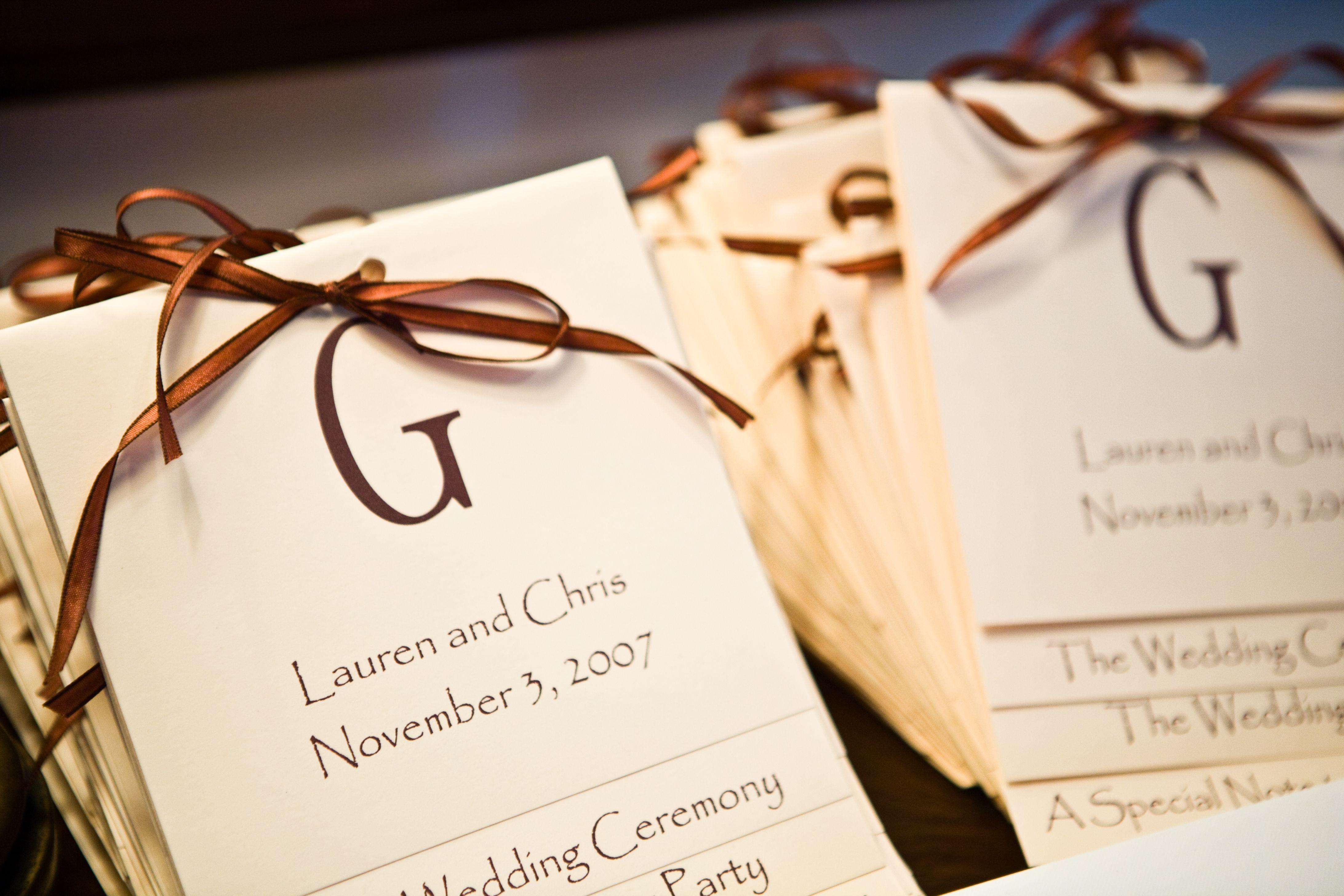 DIY Wedding Programs!   Fall wedding programs, Wedding programs and ...