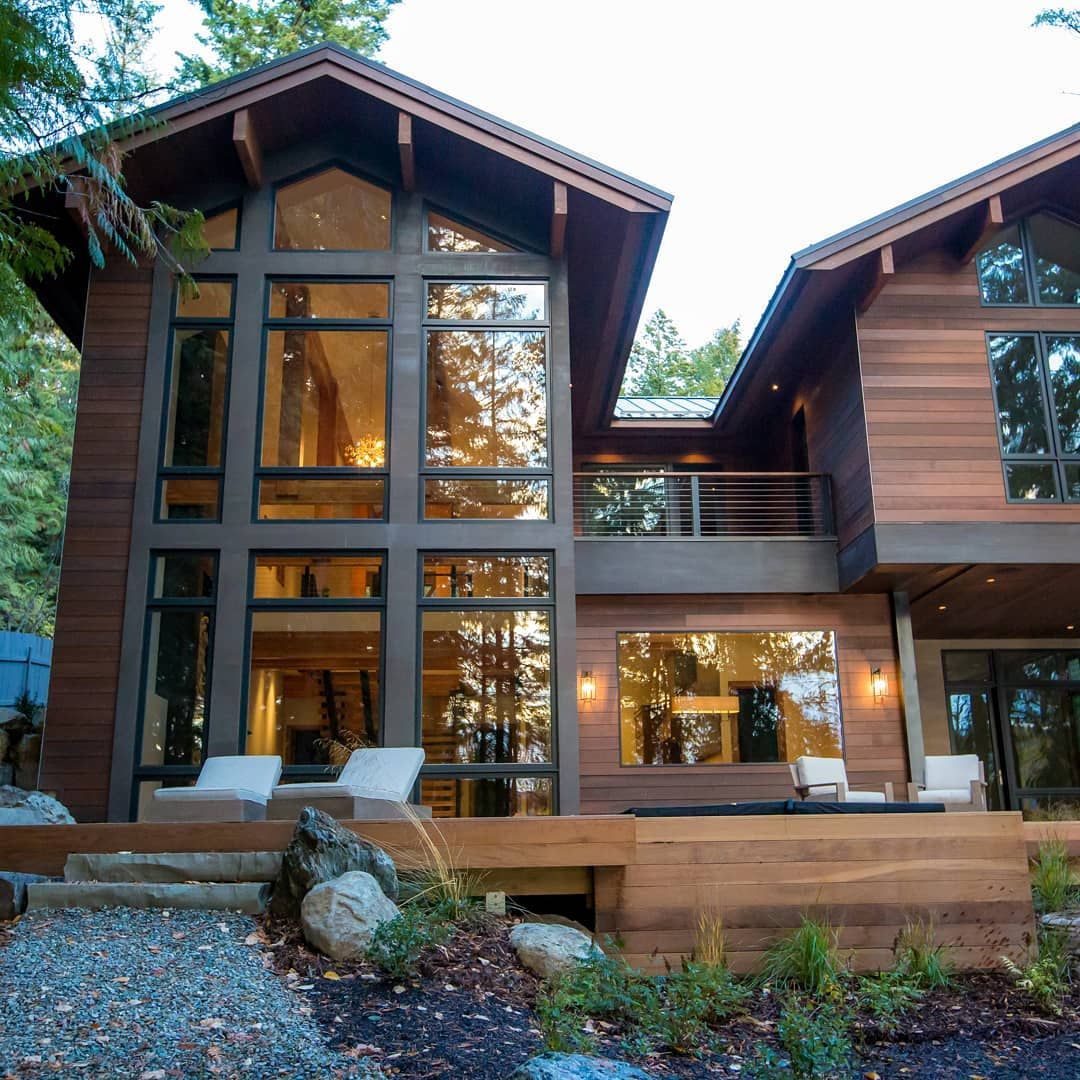 robert gilbert on instagram a cozy lakefront home that on modern cozy mountain home design ideas id=38731