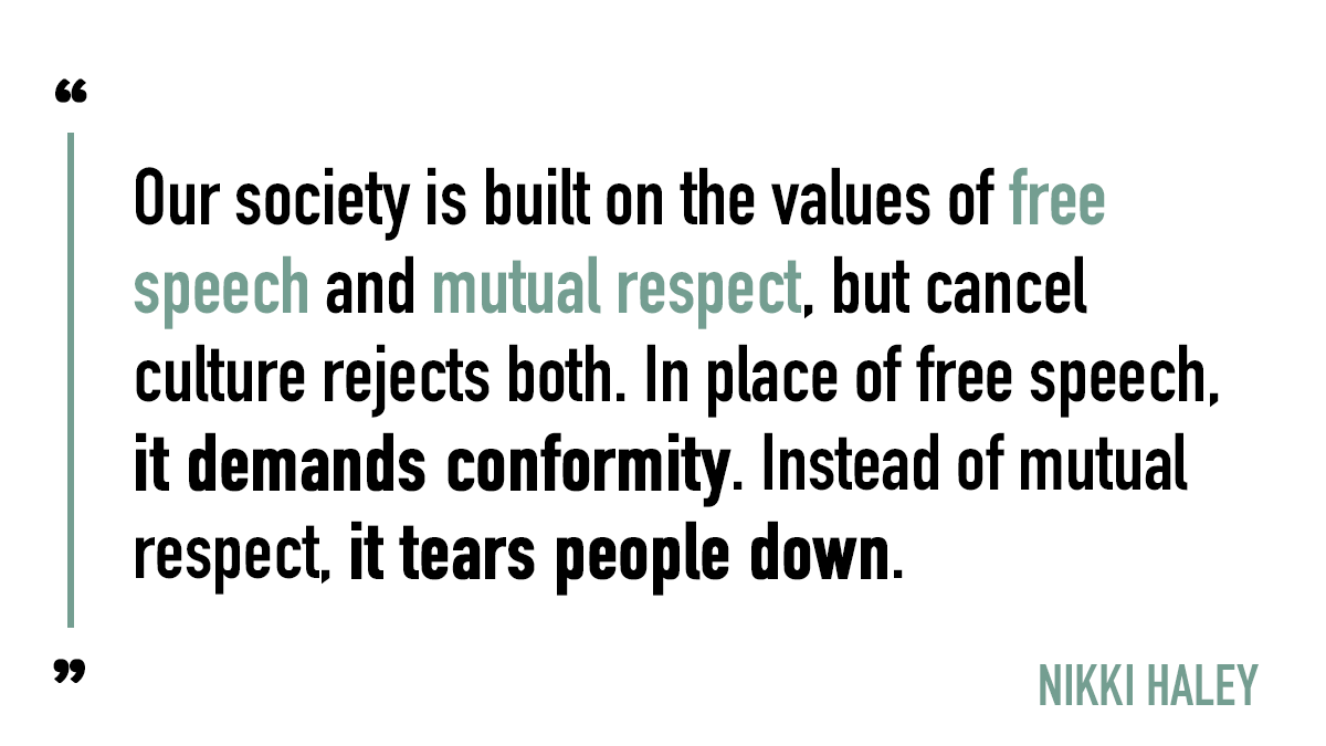 America Is Better Than Cancel Culture In 2021 Free Speech Quotes Culture Quotes Society Quotes