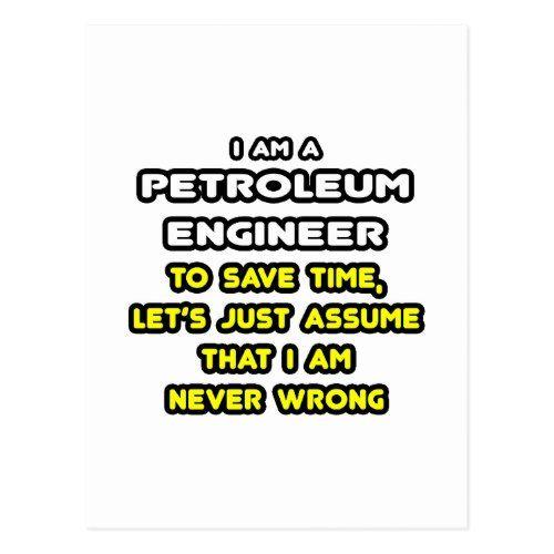 Funny Petroleum Engineer T-Shirts and Gifts Postcard Drilling - petroleum engineer job description