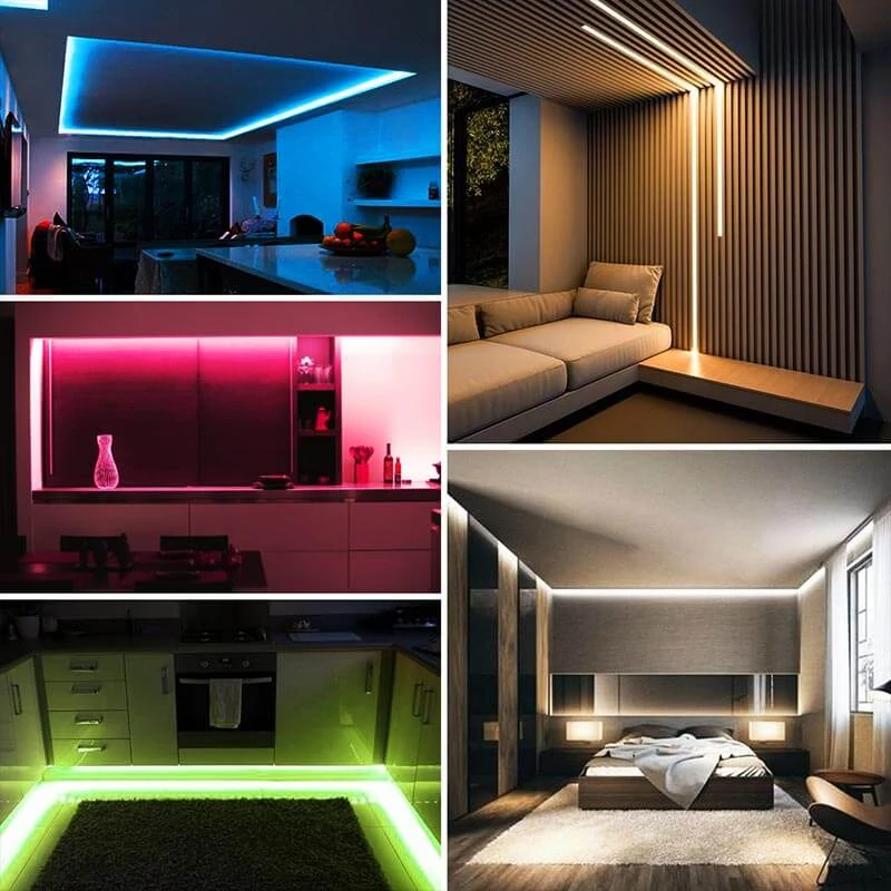 32 8ft Rgb Led Strip Light Kit Smart Wifi App Control Music Light Tape Compatible With Alexa Google Assistant Us Plug In 2020 Led Strip Lighting Led Lighting Bedroom Strip Lighting