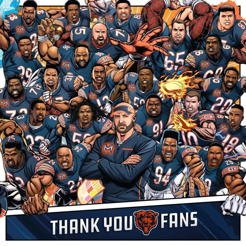 Thank you coaches and team. Chicago bears pictures