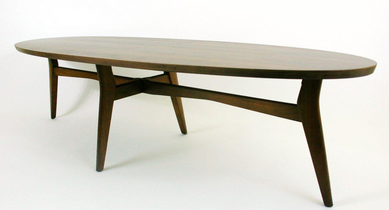 Mersman Surfboard Coffee Table Mid Century Coffee Table