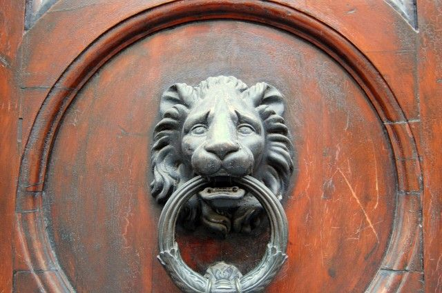 Antique Lion\'s Head Door Knocker 2 from Florence, Italy | Knockers ...