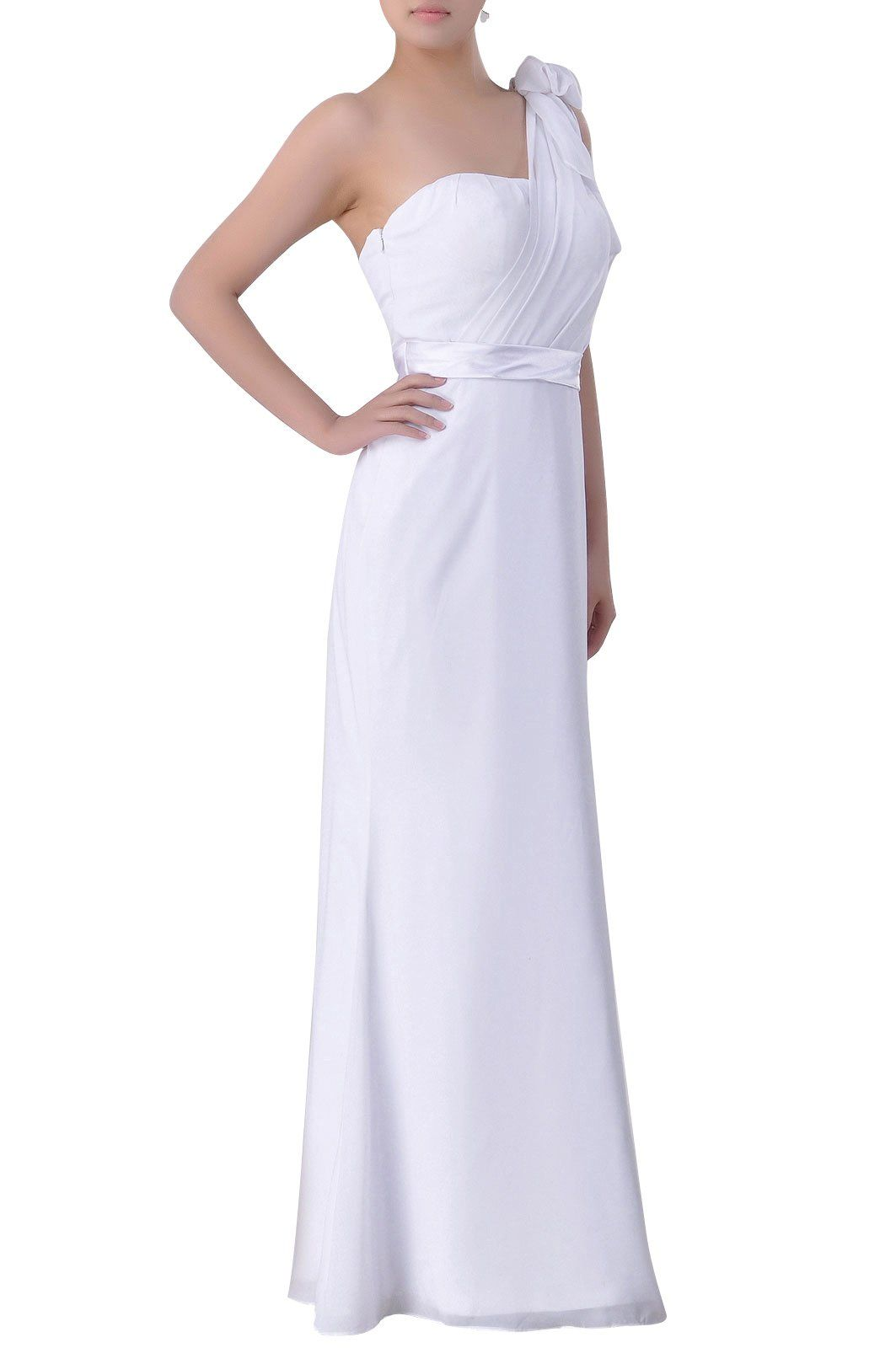 b8414a39ca79 Adorona One Shoulder Special Occasion Pleated Chiffon Formal Prom Long  Bridesmaid Dress Color CanaryCustomized ** You can get more details by  clicking on ...